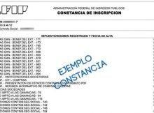 Constancia de Inscripcion AFIP